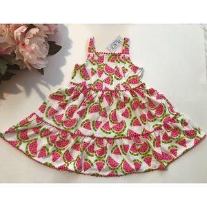 Watermelon Print Baby/Toddler Sun Dress